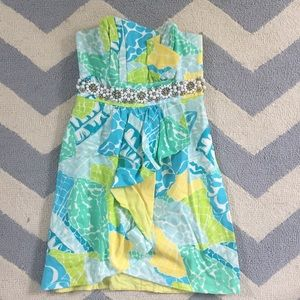 Lilly Pulitzer Strapless Beaded Dress